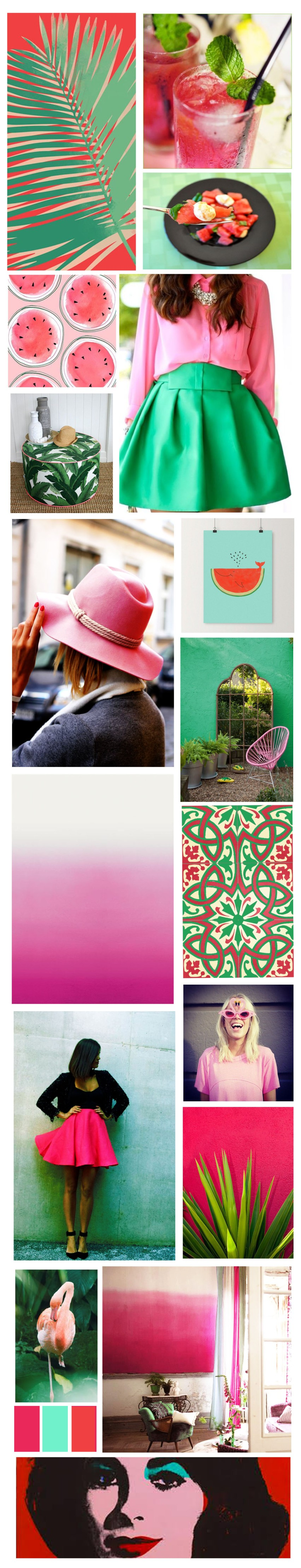 mood board watermelon copier
