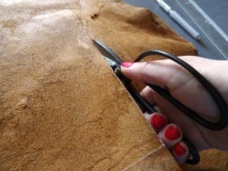 découpe du cuir