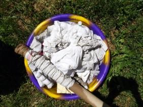 trempage des textiles noués
