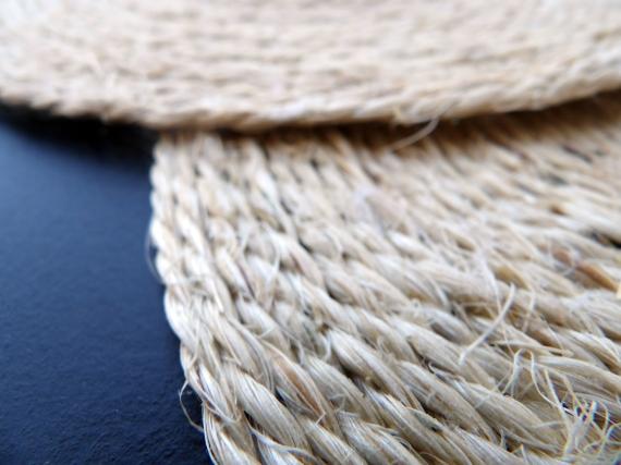 détail du montage sac en paille