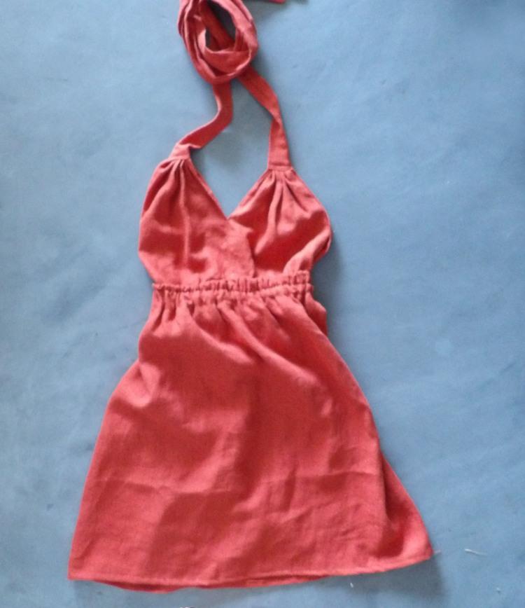 réalisation de la robe à dos croisé