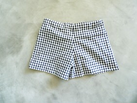 Short vichy taille haute
