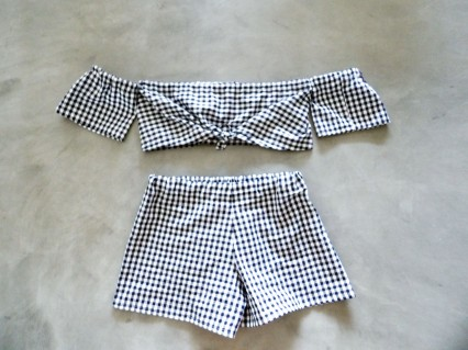 TwinSet Short & Top Vichy