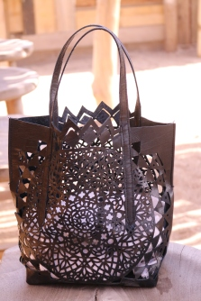 DIY sac en cuir ajouré Mandala - Crédit photo Charlène pélut
