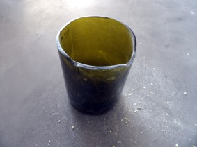 DIY vase bouteille de vin en verre coupée