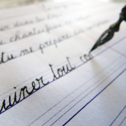 Calligraphie des mots doux