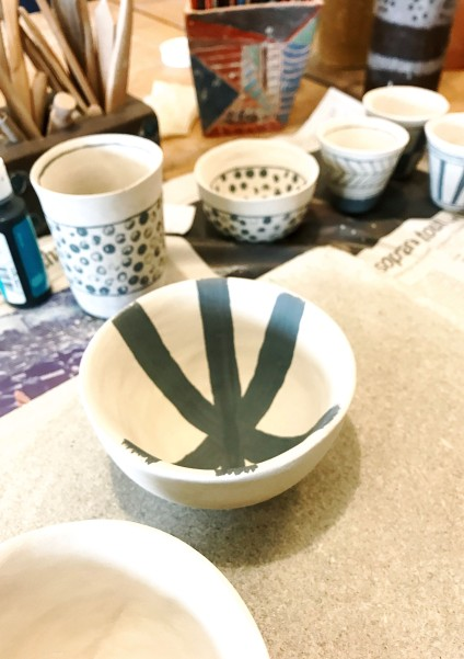 stage de céramique: le décors